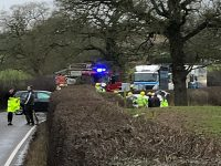 Driver trapped after A525 crash between Whitchurch and Nantwich