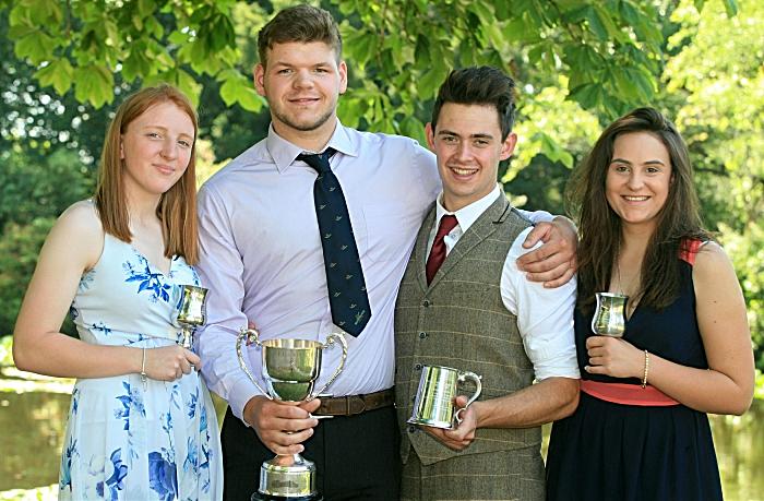 AGRIC L3 Ext Dairy Group l-r Alice Cork, Rowan Braunton, James Monton & Siobhan Rutter (1)