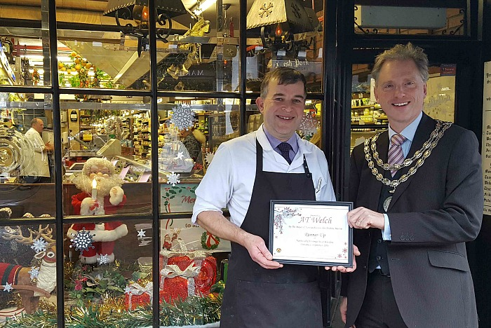 AT Welch butchers - best dressed window competition