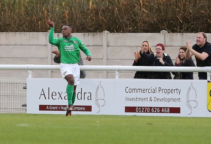 Aaron Burns scores for Nantwich Town