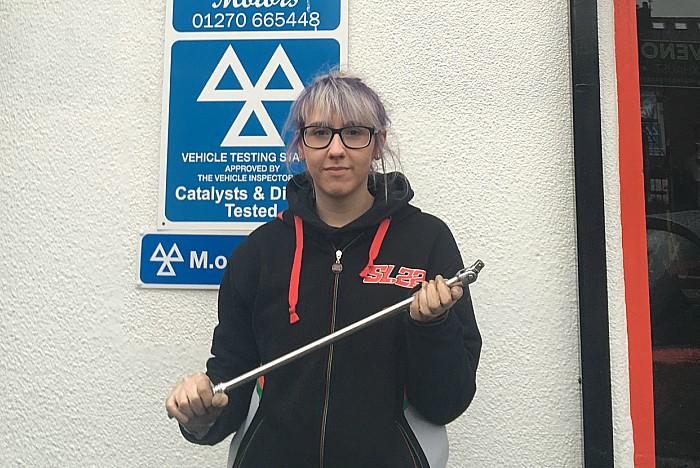Abbi Hardstaff-Evanson, mechanic at Prestige