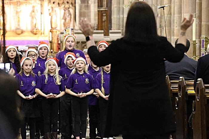 Acton CE Primary Academy Choir conducted by Headteacher Rachael McKinley (1)