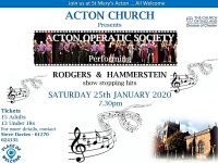 Acton Operatic Society to stage fundraising concert