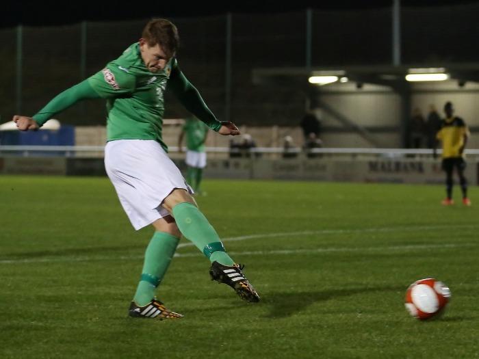 Adam Jones scores for Nantwich Town v Marine