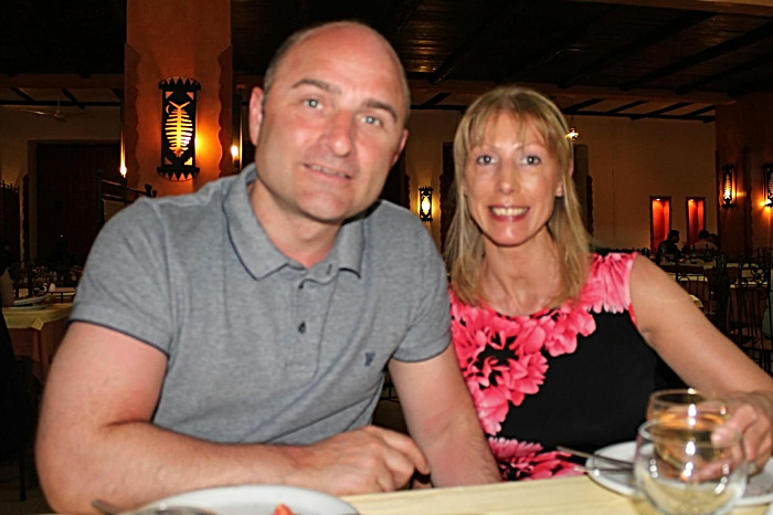 Adam Lovatt and his wife, Clare (1)