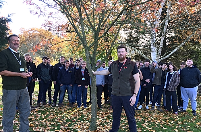 Adam Todd RFS, Dr Leigh Cawley, L3 Forestry and Arboriculture students