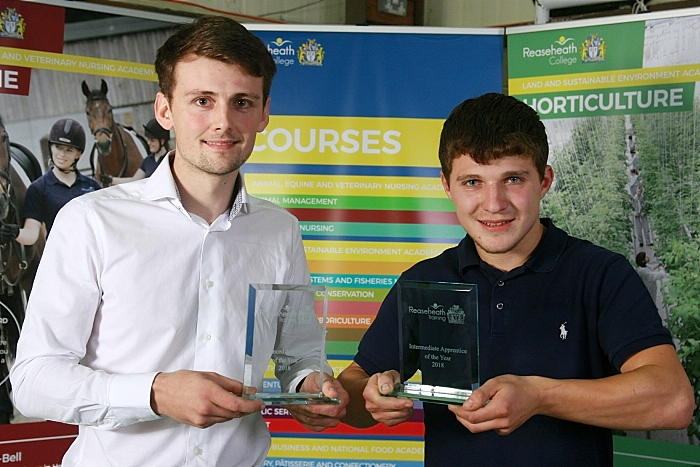 Advanced apprentice of the yr Ben Graham and Intermediate apprentice of the yr Adam Trigg (1)