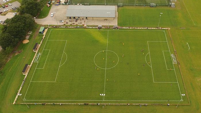Sandbach United v Nantwich Town - aerial shot