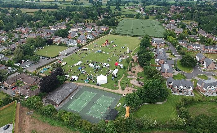 Aerial view Bunbury Village Day 2021