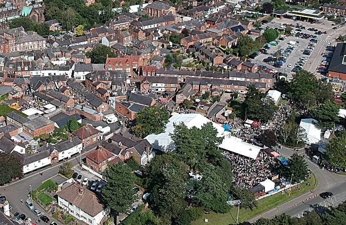 aerial pic of food festival 2019