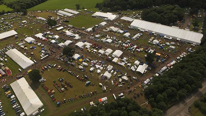 Nantwich Show 2017, aerial view