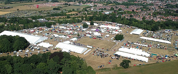 Aerial view of The Nantwich Show (2)