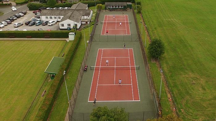 wistaston tennis club aerial view, by Jonathan White
