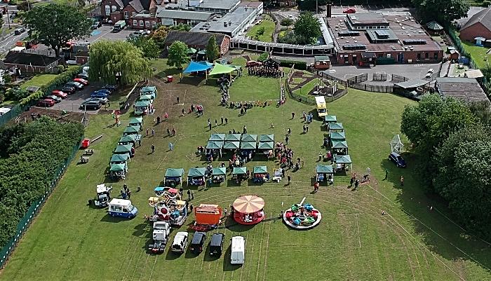 Wistaston Village fete aerial view