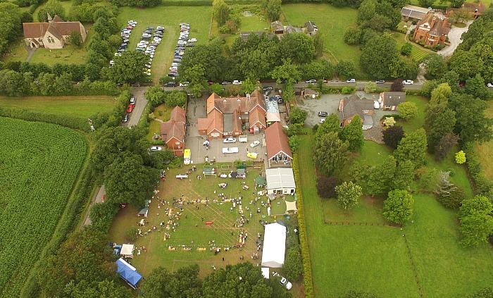 worleston fete aerial shot