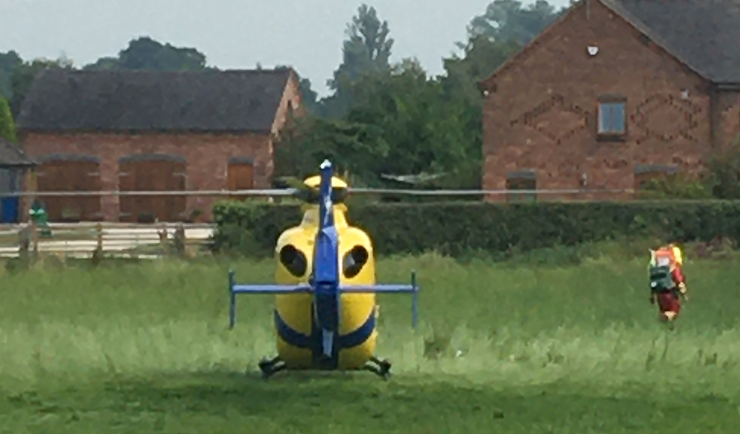 victim named - Air ambulance landed in field near Bishop's Wood