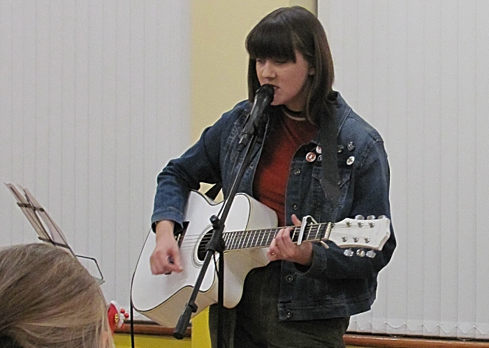 Alana Scott performs at the concert - community council