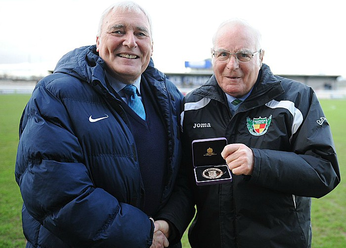 Albert Pye honoured at NantwichTown
