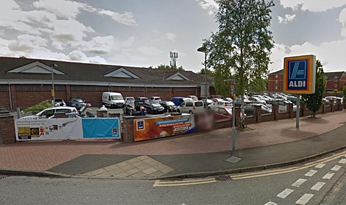 Aldi in Nantwich - by Google Street View