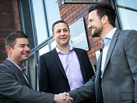 Alextra staff celebrate expansion and Chamber of Commerce award shortlist