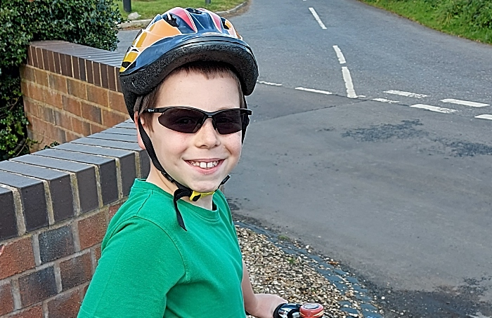 Alfie cycles in aid of RNLI
