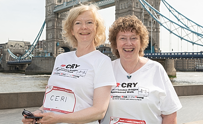 CRY Heart of London - Alison Howells (right) pictured with sister-in-law Leah Gilmore (1)