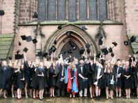 Reaseheath College students celebrate at Nantwich graduation