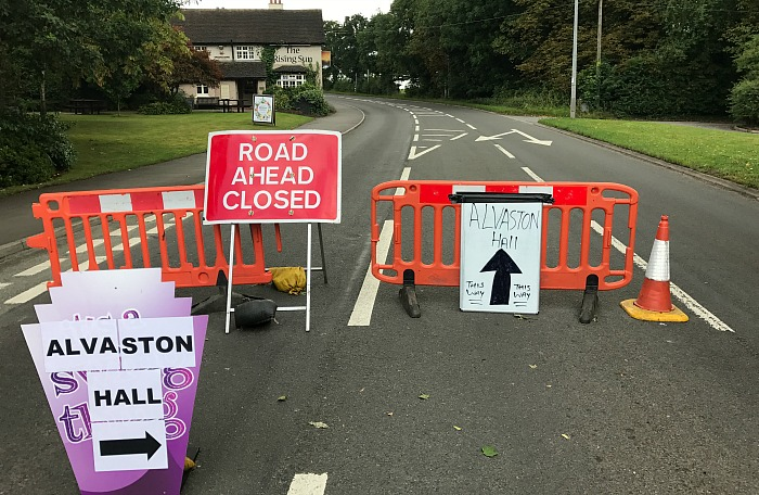 Alvaston Hall and businesses hit by A530 Middlewich Road closure