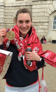 Amanda Kimber, London marathon, raising for WIngate Centre