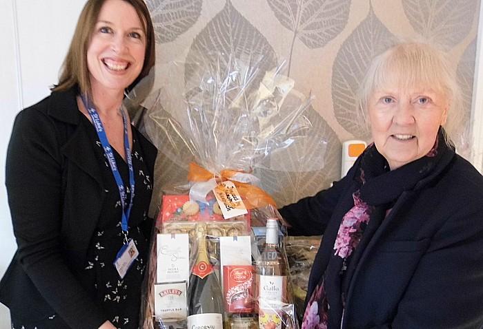 Angela Slack and Olywn Payton from Sainsbury's