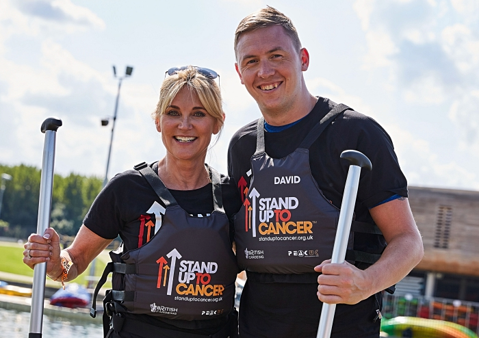 Anthea Turner and David Sing - canoe challenge