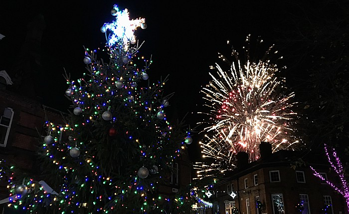 Applewood Independent sponsored Christmas tree and the fireworks