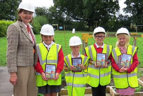 Archway Homes sponsor books for St Oswald's Worleston pupils
