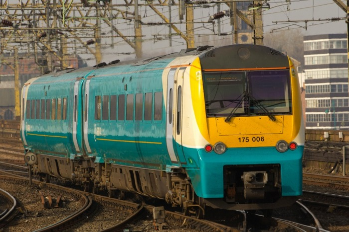 Storm Brian, Arriva Trains Wales, pic under creative commons by Aeropixels Photography