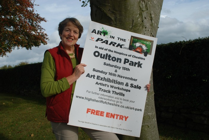 Art in Park, Susan Sellers Cheshire High Sheriff
