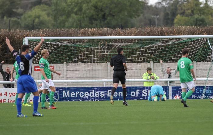 Ashton United open scoring against Nantwich Town