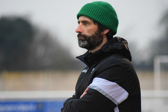 Promotion disappointment - Assistant Manager Neil Sorvel deputised for manager Phil Parkinson v Barwell