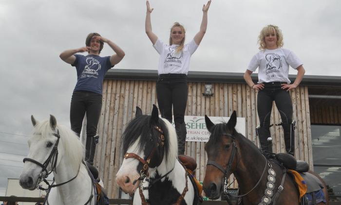 Family Festival - Atkinson Action Horses Mike  Collin, Georgia Plimbley and Candice Carbine