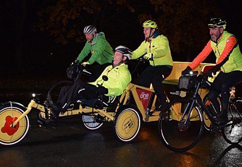 BBC One Show Rickshaw Challenge motors through Nantwich and Crewe