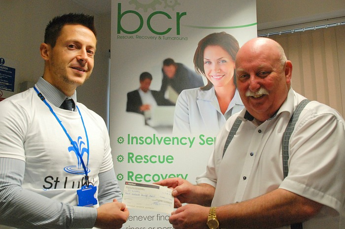 BCR charity cheque for St Luke's Hospice