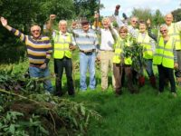 Balsam teams clear invading plants from Nantwich riverbanks