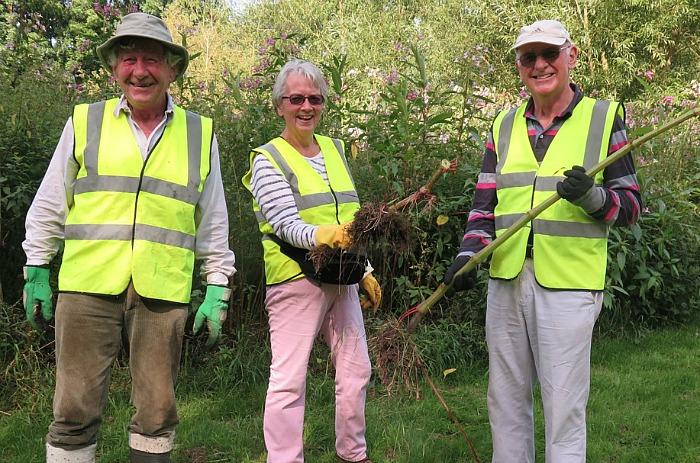 Balsam volunteers in Nantwich
