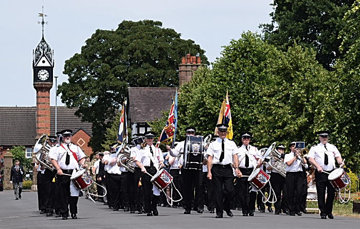Armed Forces Day - Band and Drums of the Cheshire Constabulary lead the march from the Clock Tower (1)