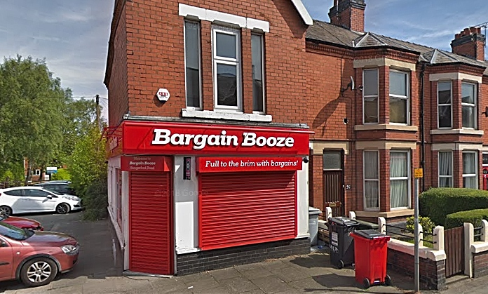 knife robber - Bargain Booze Hungerford Road - pic by Google street view