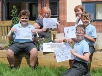 Youngsters bury time capsule at new Nantwich care home