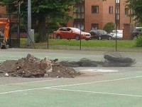 Council leisure chiefs rip up Nantwich tennis courts at the start of Wimbledon