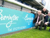 Barringtons scores new sponsor deal with Nantwich Town