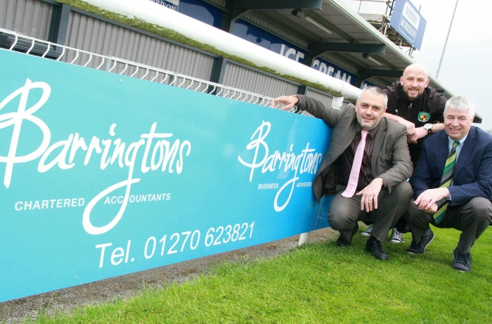 Barringtons new sponsor deal with Nantwich Town
