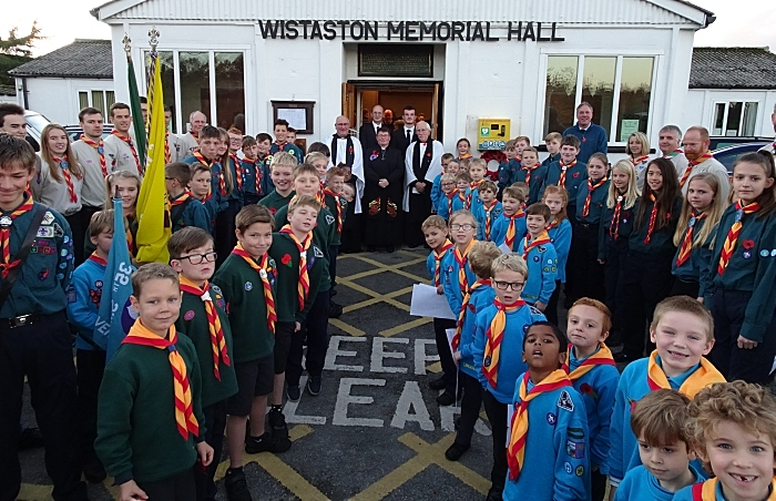 Beavers Cubs Scouts and other participants at the end of the Service of Remembrance (1)