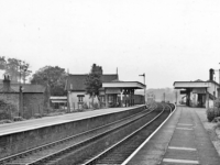 Beeston Castle & Tarporley Station in 1961 - pic by Ben Brookshank, creative commons licence